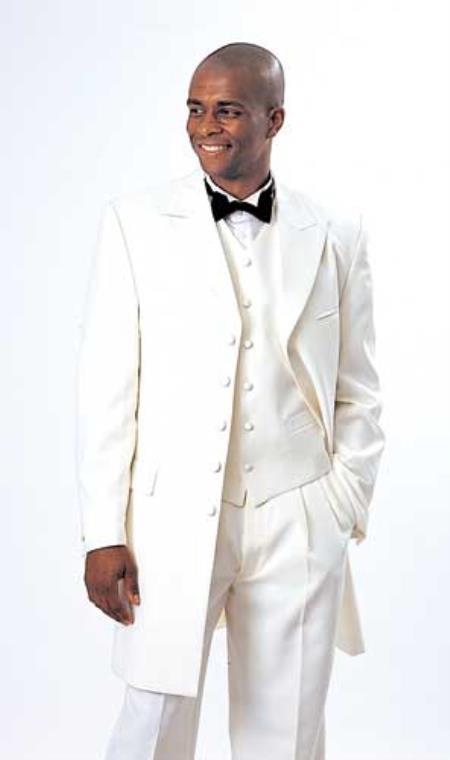 Off White Tuxedo Fashion Zoot Suit
