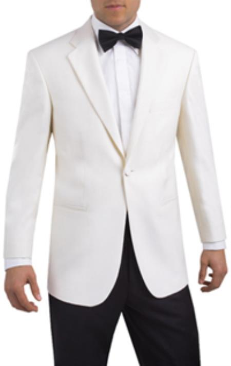 New Vintage Tuxedos, Tailcoats, Morning Suits, Dinner Jackets Single Button 2 piece Tuxedo White Notch Lapel  46S $251.00 AT vintagedancer.com