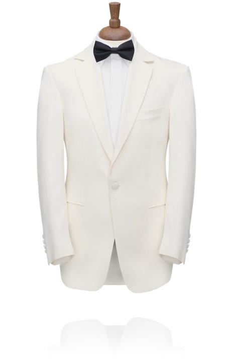 New Vintage Tuxedos, Tailcoats, Morning Suits, Dinner Jackets White Notch Lapel Tuxedo Jacket  46S $251.00 AT vintagedancer.com