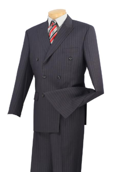 1940s Mens Suits | Gangster, Mobster, Zoot Suits Executive 2 Piece Suit Charcoal 46S $177.00 AT vintagedancer.com