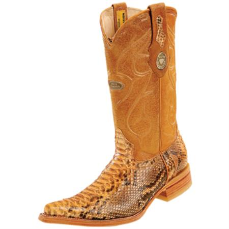 Wh-Dimond Western Cowboy Boot Bota Piton Horma Chihuahua Mantequilla