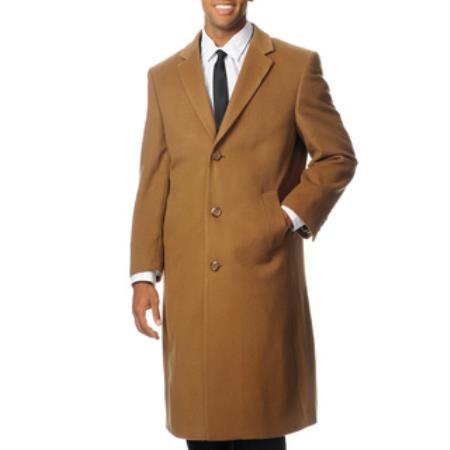 1930s Mens Fashion Guide- What Did Men Wear? Mens Harvard Camel Cashmere Blend Long Top Coat 46S $252.00 AT vintagedancer.com