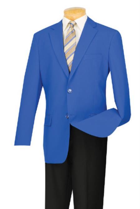 Retro Clothing for Men | Vintage Men's Fashion Mens Two Button Royal Blue Blazer Jacket With Gold Buttons Royal Blue $141.00 AT vintagedancer.com