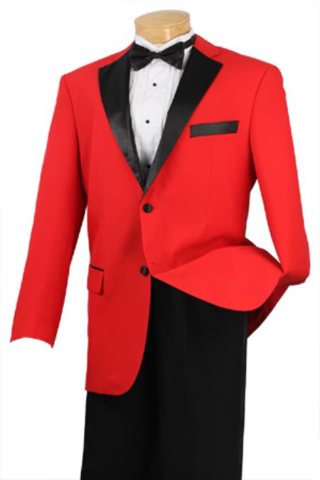 1900s Edwardian Men's Suits and Coats Mens Two Button Single Breasted 100 poplin dacron Red 46S $167.00 AT vintagedancer.com