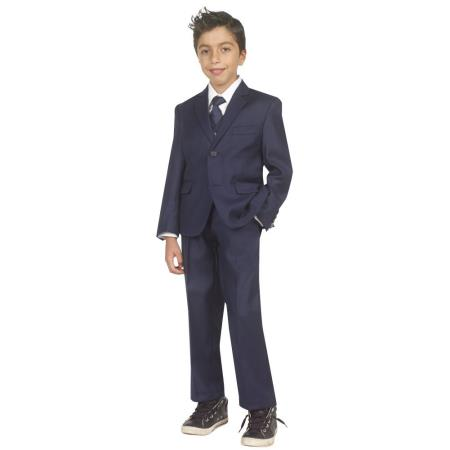 Vintage Style Children's Clothing: Girls, Boys, Baby, Toddler Boys Five Piece Suit With VestShirt And Tie Navy 46S $81.00 AT vintagedancer.com