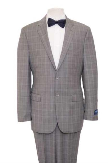 Men's Vintage Style Suits, Classic Suits Men Windowpane Plaid Houndstooth Texture Wool Blazer Jacket Suit Gray $167.00 AT vintagedancer.com
