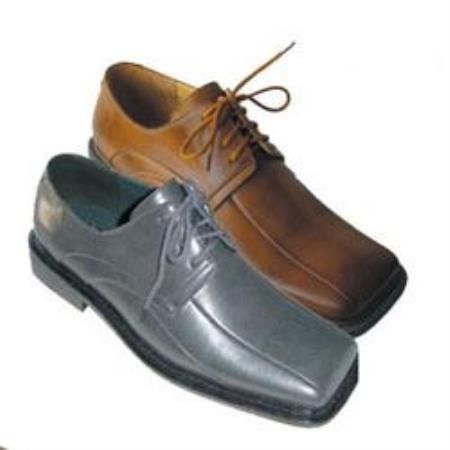 Mens Vintage Style Shoes & Boots| Retro Classic Shoes Mens Dress Shoes GrayBrown 9.5 $67.00 AT vintagedancer.com