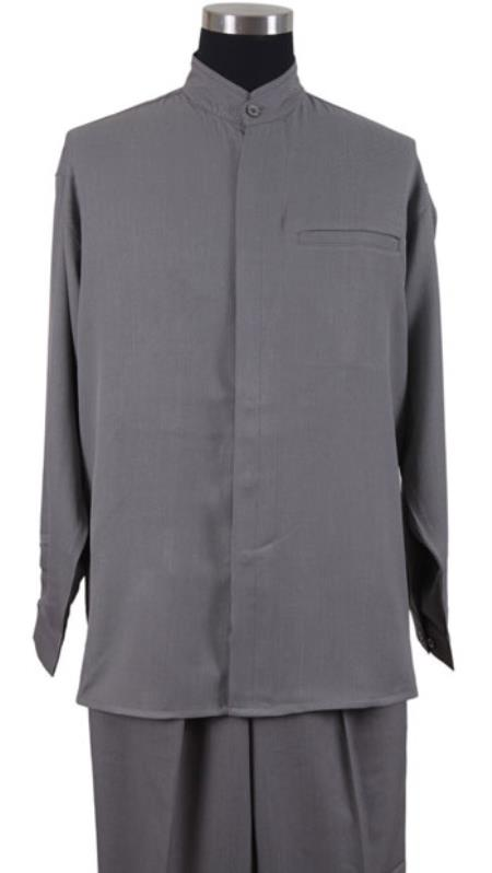 Cross clergy collar cross placket dress shirt dark color black for Dress shirt no pocket