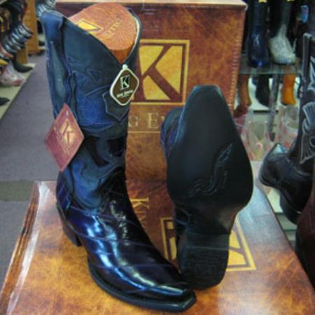Mens Genuinel King Exotic Snip Toe Western Cowboy Purple Boot