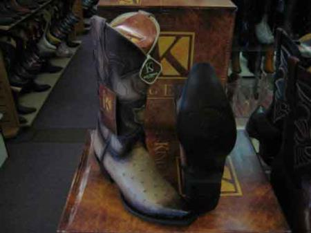 King Exotic Tan Oryx Snip Toe Genuine Ostrich Leather Cowboy Boot