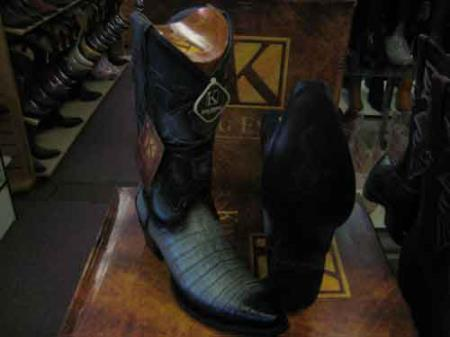 King Exotic Gray Snip Toe Genuine Crocodile Skin Western Cowboy Boot