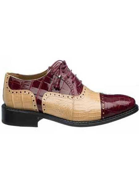 60s Mens Shoes | 70s Mens shoes – Platforms, Boots  Mens Real Alligator  Ostrich Quill Cap Toe Shoes Burgundy $632.00 AT vintagedancer.com