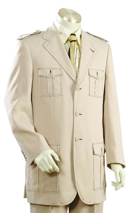 Mens Safari Suit
