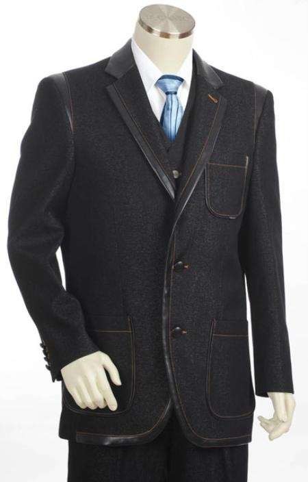 Stylish denim suits for any occasion and budget. A denim or jean suit is a very fashion forward look to wear to any event. Great prices from Clothing Connection Online.