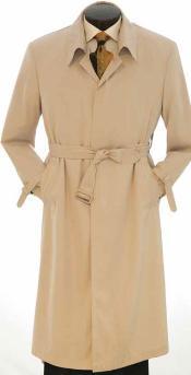 Khaki rain coat