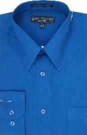 Royal Blue Cotton dress shirt   Men