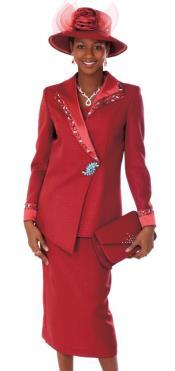 Womens Red 2 piece Dress Set