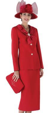 Red Women Dress Set
