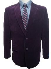 SKU#GBM4399 Mens 2 Button Dark Burgundy~Plum~Eggplant Velvet Blazer $99