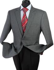Mens 2 Button Grey Check Suit