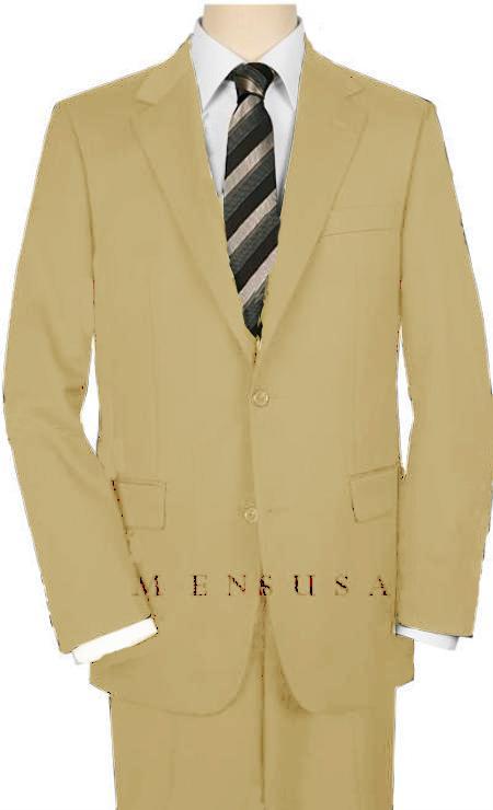 Mens Khaki Suit