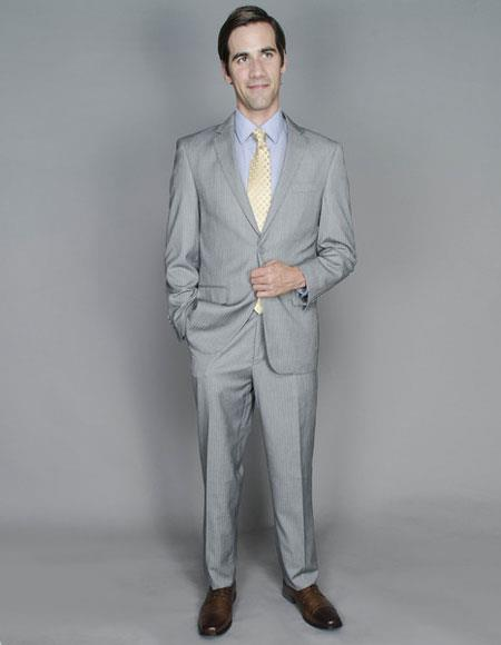 Single Breasted Light Grey Suits