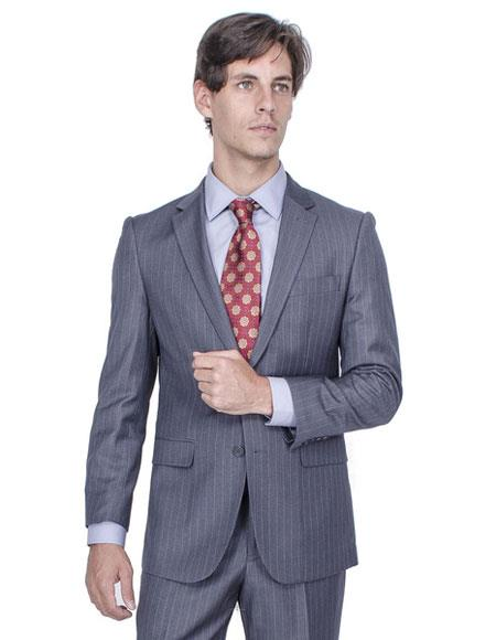 Single Breasted Charcoal Grey Suits