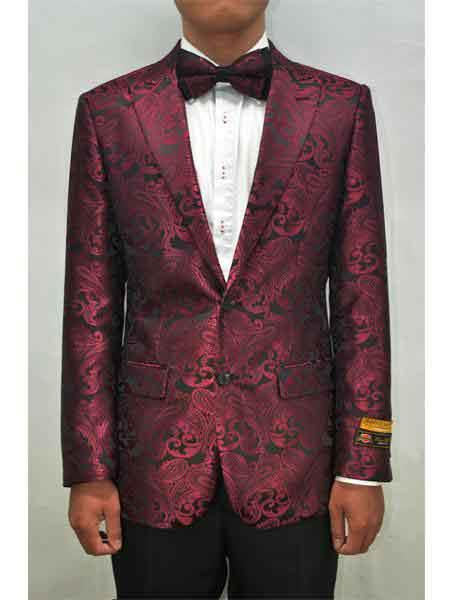 Fashion Paisley Wedding Suit