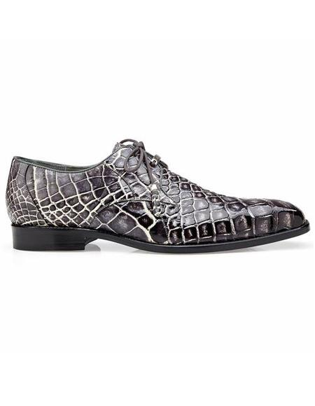 ID#SP25801 men's Brown Cap Toe Lace Up Cheap Priced Exotic Skin Shoes For Sale For Men Alligator