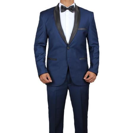 Id Sp25864 Mens James Bond Midnight Blue Tuxedo Skyfall