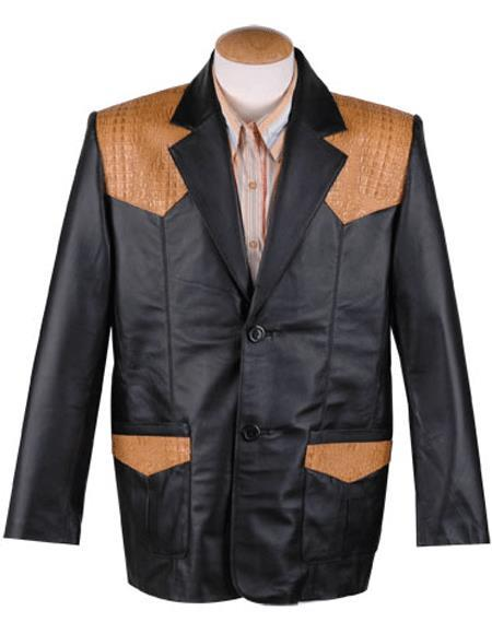 ID#SP26530 Mens  Western Black Blazer