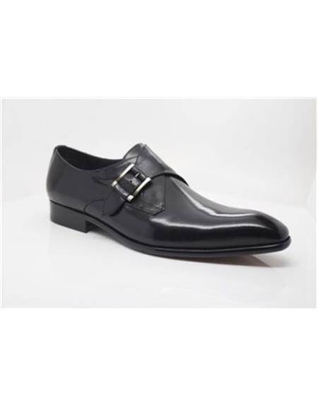 Black men's Carrucci Shoes Wrapped Silver
