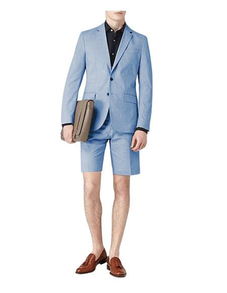men's Light Blue Suit For Men