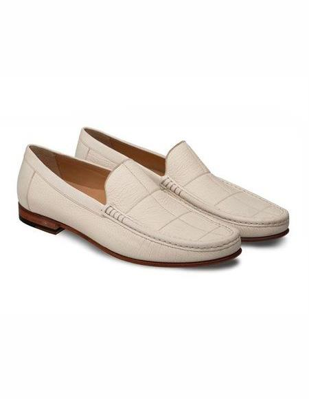 men's Slip On Bone Stylish Dress Loafer Design Shoe