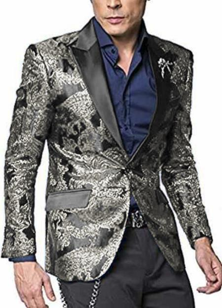 Big and Tall Large Man ~ Plus Size Man For Big Man Silver Grey ~ Gray men's Sport Coat + B