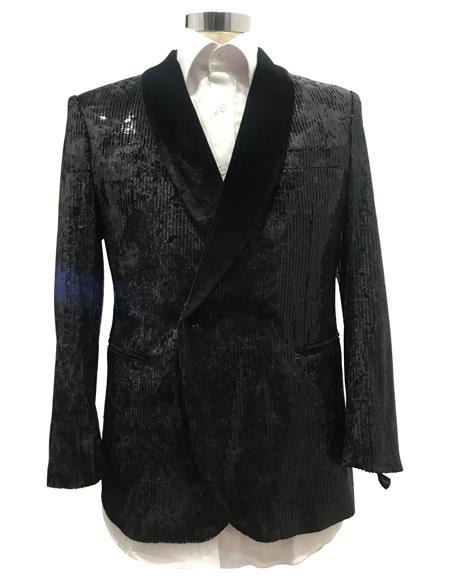 men's Peak Label Black  Tuxedo