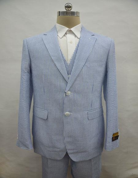 men's  Notch Label Blue Colour Suit