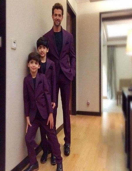 Father ~ Dad And Son Burgundy Matching Suits