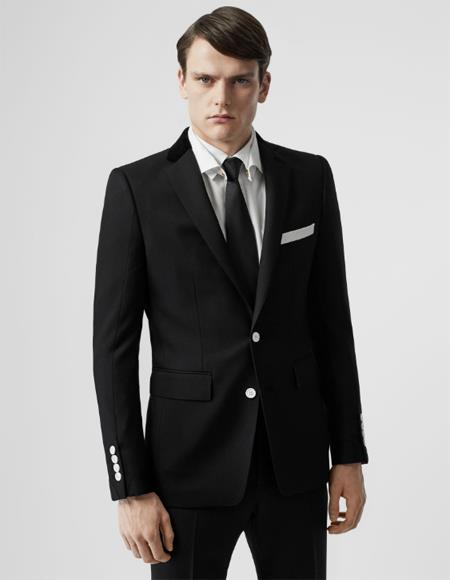 Black With White Buttons Slim Fit Wool or Regular Fit Affordable Cheap Priced men's Dress Suit For Sale