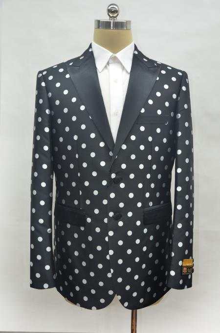 men's Black ~ White Two Button Cheap Priced Designer Fashion Dress Casual Blazer On Sale Prom Blazer