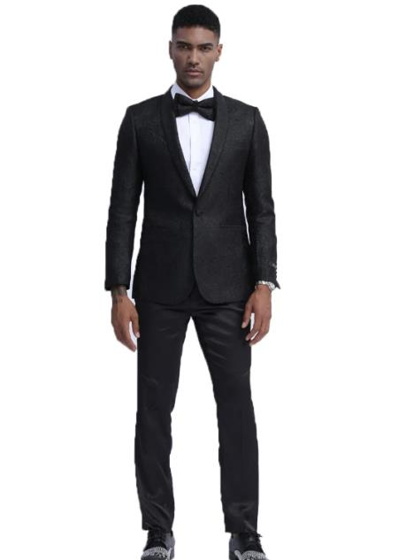 Black Slim Fit Wedding Outfit Wedding Tuxedo Suit