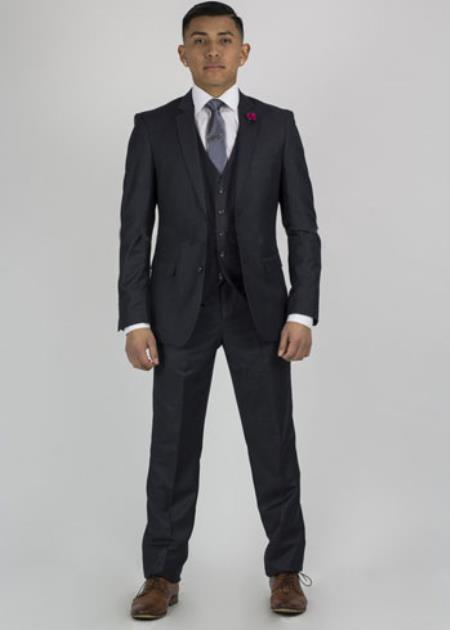 Graduation Suit For Boy / Guys Slim fit pants Charcoal