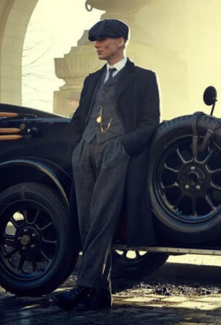 Peaky Blinders Style Tweed Vested Suit