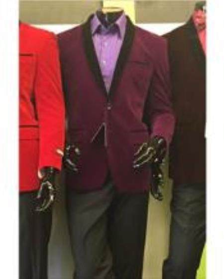 Men's shawl Lapel Velvet men's Blazer Available In Purple Tuxedo / velour Jacket men's / Tux / Dinne