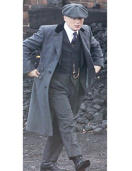 Thomas Shelby custom made suit with coat and hat