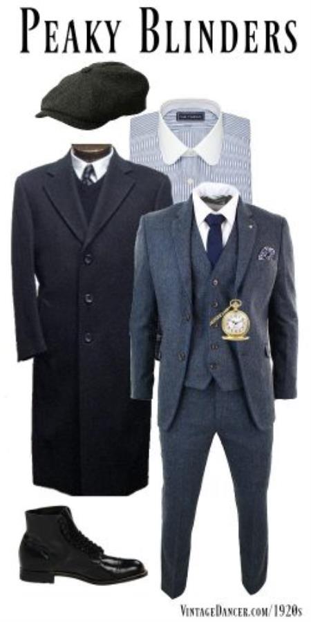 peaky blinders suit and overcoat