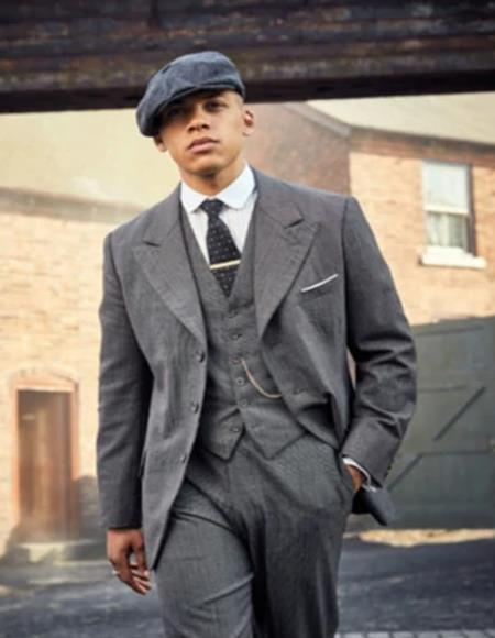 Brand New Quality Peaky Blinders Style Vested Suit