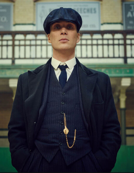 Black Two Button Peaky Blinders Suits Custom