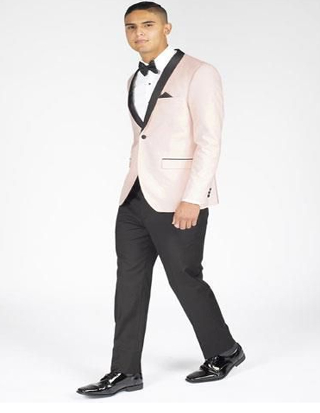men's Blush Pink Perfect for Prom or Wedding Suit