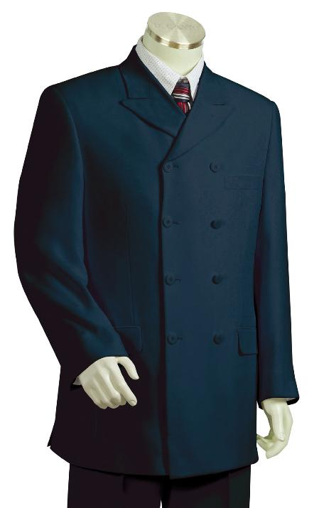 Fashion Navy Zoot Suit